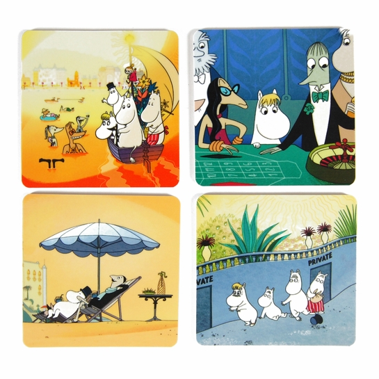 Moomins on the Riviera Coaster Set of 4