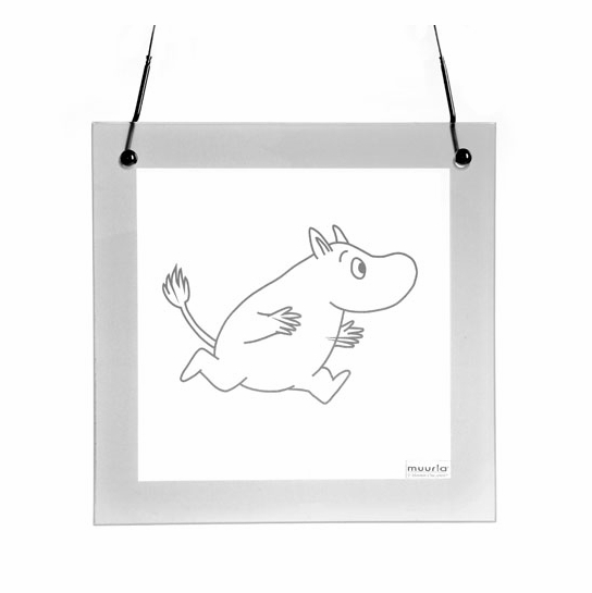 Muurla Running Moomin Glass Portrait