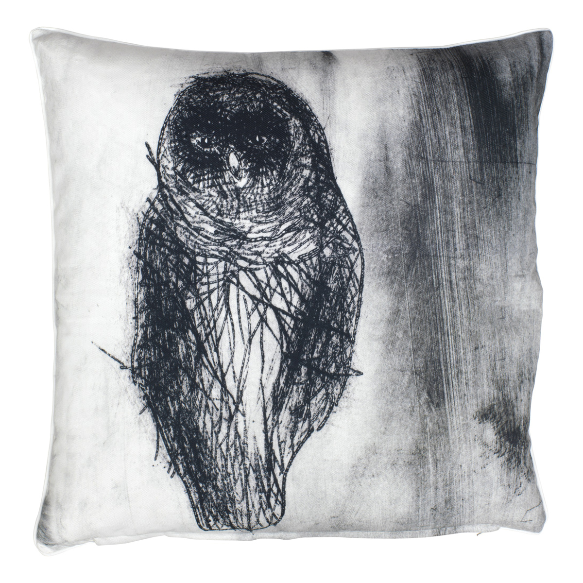 Pentik Fauna Owl Throw Pillow Throw Pillows