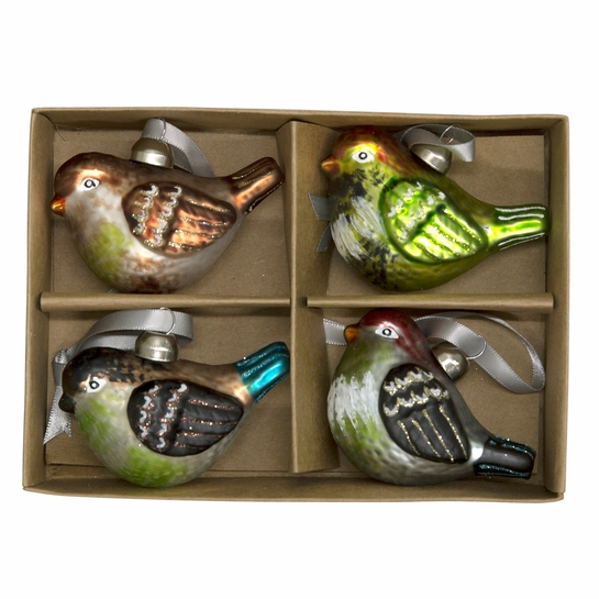 Pentik Glass Bird Ornaments Set