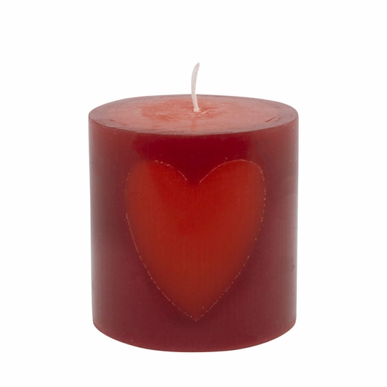Pentik Joulusydan (Christmas Heart) Short Table Candle