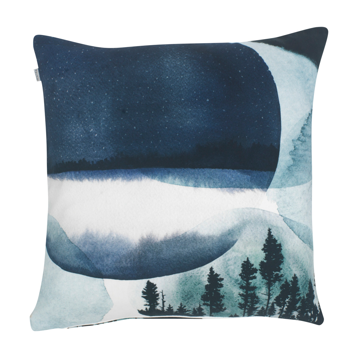 Pentik Maisema Blue Throw Pillow - Finnish Pillows & Blankets