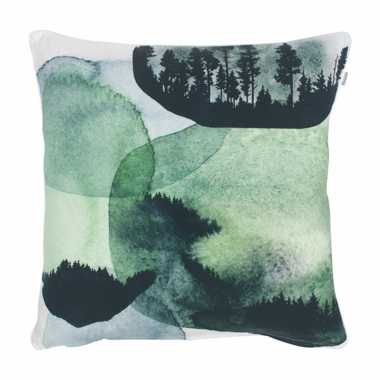 Pentik Maisema Green Throw Pillow