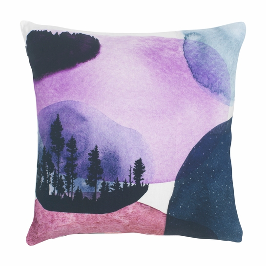 Decorative Pillow Lilac : Pentik Maisema Lilac Throw Pillow - Additional Sale