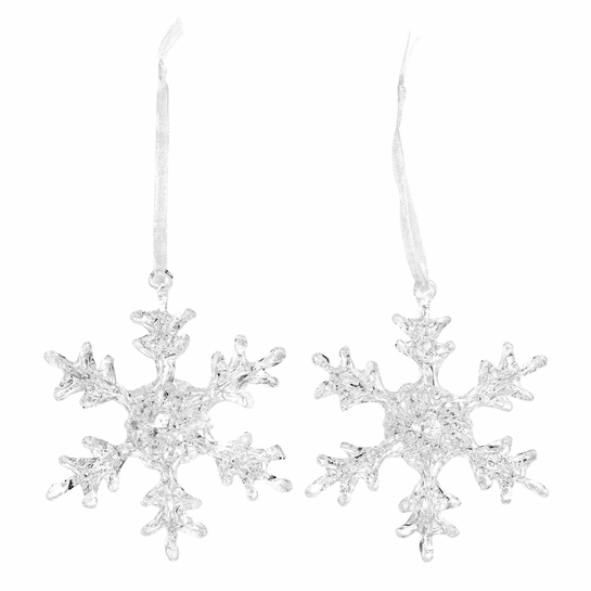 Pentik Lumihiutale (Snowflake) Glass Ornaments (Set of 2)