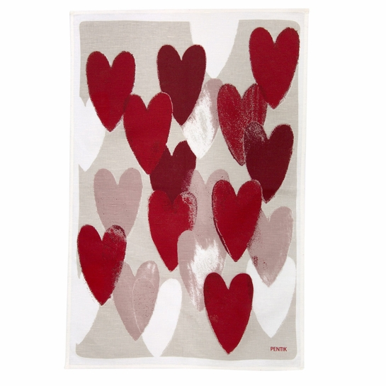 Pentik Sydan (Heart) Kitchen Towel