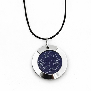 Pohjolan Helmi Stars in the North Navy Blue Necklace