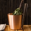 Rento Copper & Beech Wood Sauna Bucket