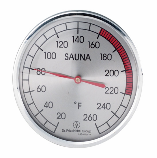 sauna thermometer 4 chrome sauna thermometers hygrometers. Black Bedroom Furniture Sets. Home Design Ideas