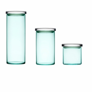 Set of 3 iittala Water Green Glass Jars - Click to enlarge