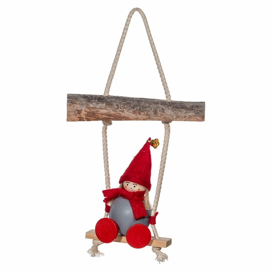 Tonttu on Swing Ornament