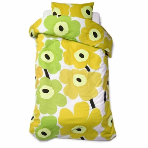 Unikko Yellow Twin Duvet Cover - Click to enlarge