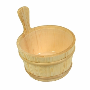 Wood Sauna Bucket - Birch