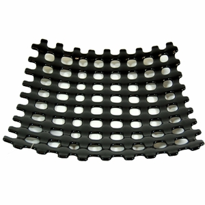 Woven Glass Bowl - Black - Click to enlarge