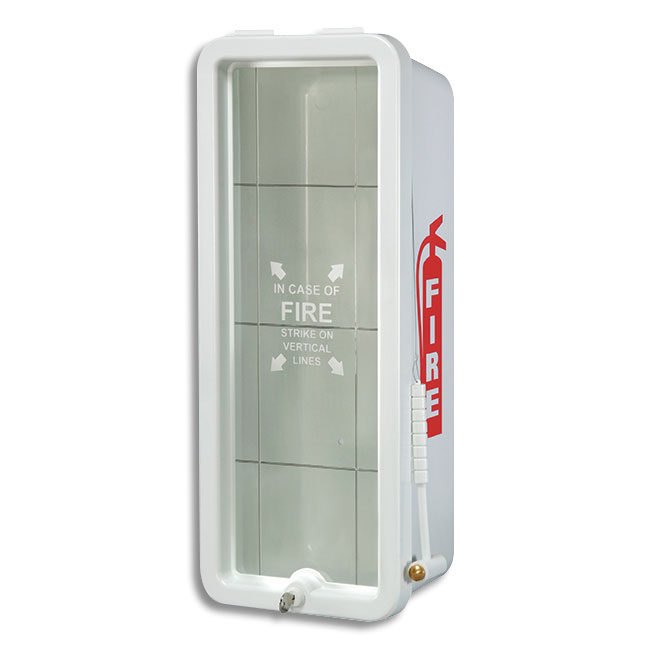 10 Lb FireTech Fire Extinguisher Cabinet   Surface Mount Red Or White   Fire  Extinguisher Cabinets Covers