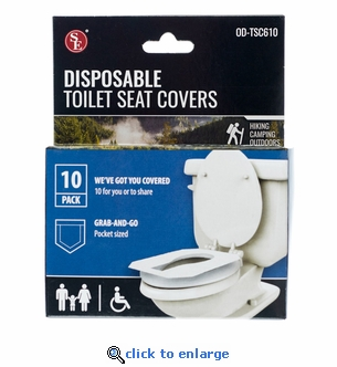 10 pack Disposable Toilet Seat Covers
