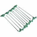 """10 Pack - Steel Tent Stake with Plastic ''T'' Stopper - 10.5"""""""