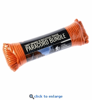 100 Ft. Bundle Orange Paracord with Reflective Tracer - 5/32