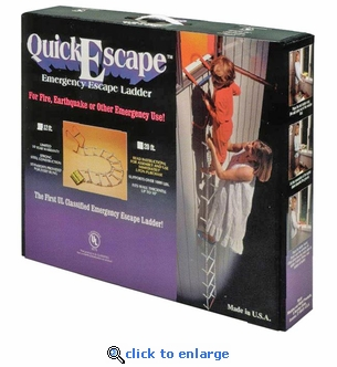 12' QuickEscape Fire Escape Ladder - No Sleeves