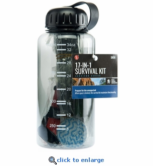 17-in-1 Survival Kit Water Bottle