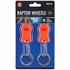 2-Pack Raptor Emergency Alert Whistles with Key Chain