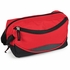 2 Pocket Toiletry Bag - Red and Black - 9.5 x 6 x 3.5