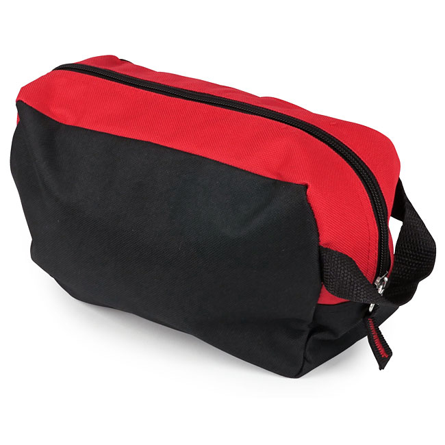 8669ca39e 2 Pocket Toiletry Bag - Red and Black - 9.5 x 6 x 3.5 - EMT Medical Supply  Bags, Packs and First Aid Kit Containers