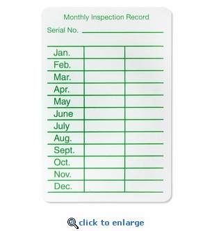 25 - Monthly Inspection Tag - Peel n Stick Labels - 2