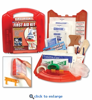 25-Person OSHA First Aid Kit 125-Piece with Wall Mount