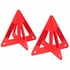 3-D Roadside Reflective Hazard Warning Triangles - 2 Pack