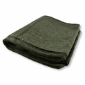 3 lb. Olive Green Emergency Relief Wool Blanket 60'' x 80'' - 60% Wool