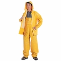 3-Piece Industrial Rain Suit with Hood Large