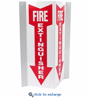 3D Angle Rigid Plastic Fire Extinguisher Arrow Sign - 4