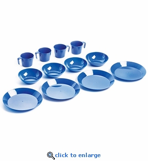 4-Person Plastic Tableware Setting