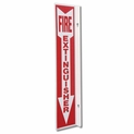 "4"" x 18"" 90 Degree Fire Extinguisher Arrow Sign - Rigid Plastic"