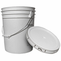 5-Gallon Bucket with Lid - FDA Food Storage Rated - 75 mil Plastic