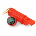 5-In-1 Survival Whistle with Compass and Waterproof Container