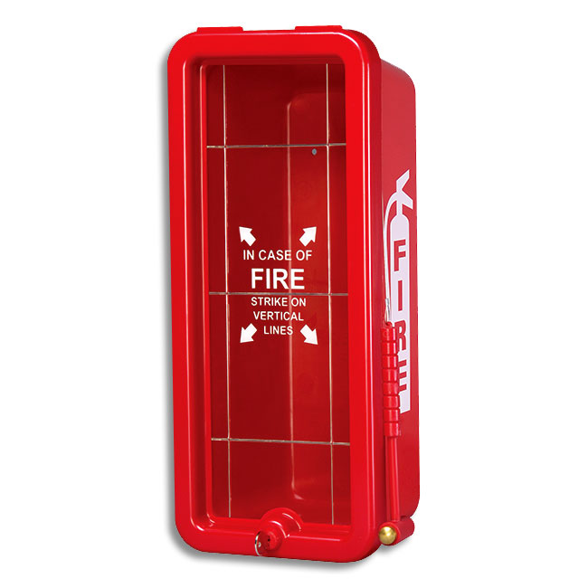 Exceptional 5 Lb FireTech Fire Extinguisher Cabinet   Surface Mount Red Or White   Fire  Extinguisher Cabinets Covers
