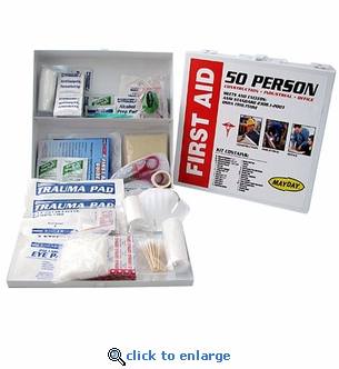 Metal Cabinet 50 Person OSHA First Aid Kit