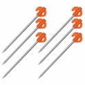 6 Pack - Orange Tent Stakes  Heavy Duty