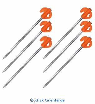 6 Pack - Orange Tent Stakes Heavy Duty  sc 1 st  Fire Supply Depot & 6 Pack - Heavy Duty Tent Stakes - 8 Inch Galvanized Steel - Tents ...
