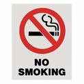 "No Smoking Sign - 8"" x 10"" - Adhesive Vinyl"
