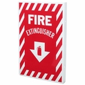 "8"" x 12"" 90 Degree Fire Extinguisher Arrow Sign - Rigid Plastic"