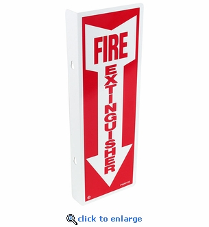 90 Degree Fire Extinguisher Arrow Sign - Rigid Plastic - 4