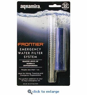Aquamira Emergency Water Filter System Frontier Filter - Set of 4