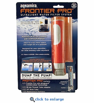 Aquamira Frontier Pro Water Filter System - Set of 2