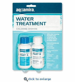 Aquamira Water Treatment Concentrate - Treats 60 Gallons - Emergency Water Storage