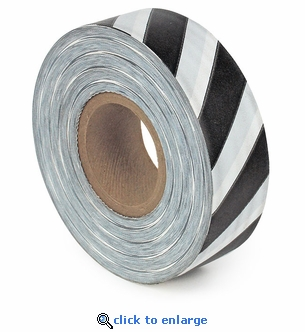 Black and White Striped Flagging Tape 300' Roll