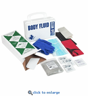 Body Fluid & Spill Cleanup Kit For Schools, Restaurants & Public Facilities - Certified Safety