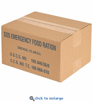 4 Case Minimum Order - Case of 20 - SOS 3600 Calorie Emergency Food Bars